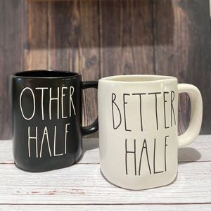 "RAE DUNN ""OTHER HALF"" ""BETTER HALF"" Mug Set"